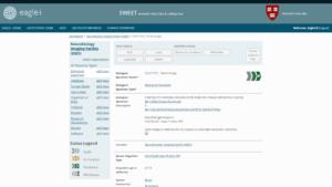 Screenshot of the SWEET tool where users enter data