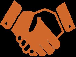 teamwork icon showing a handshake